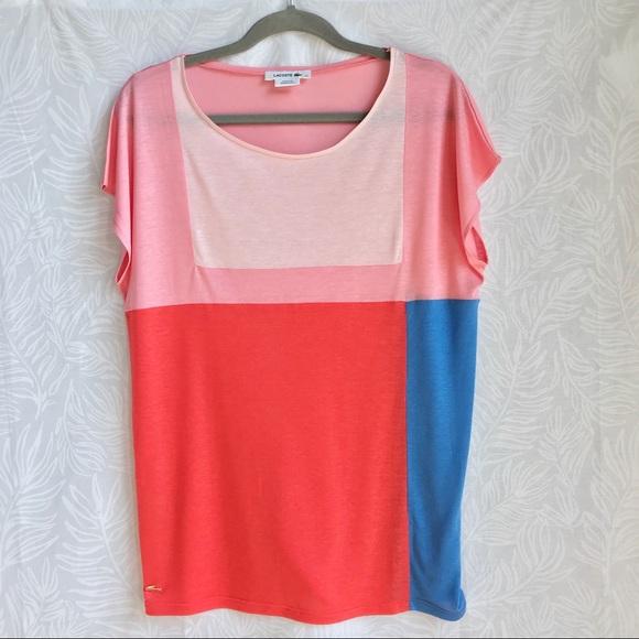 c9971a7d8 Lacoste Tops - ▫️Lacoste▫️color block short sleeve T-shirt
